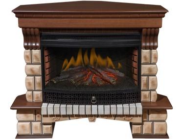 Каминокомплект Меркурий угловой (портал Stone + очаг Fireplace 33'')