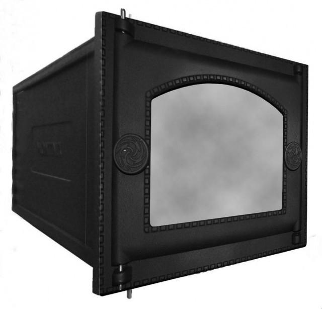 Духовка чугунная с дверкой со стеклом ДТ-6АС RLK 365