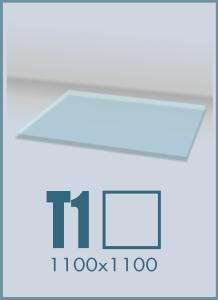 Напольное стекло под камин T-1