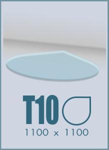 Напольное стекло под камин T-10