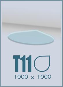 Напольное стекло под камин T-11