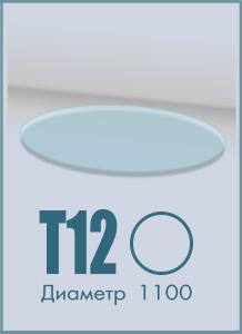 Напольное стекло под камин T-12