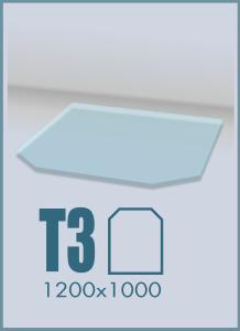 Напольное стекло под камин T-3
