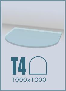 Напольное стекло под камин T-4