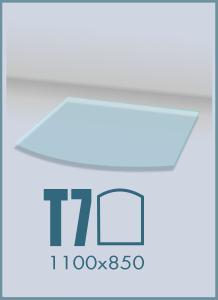 Напольное стекло под камин T-7