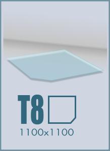 Напольное стекло под камин T-8