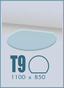 Напольное стекло под камин T-9