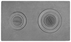 Плита двухконфорочная П2-3 цельнолитая (710*410)