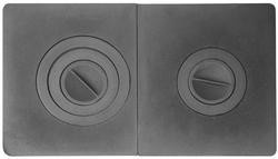 Плита двухконфорочная ПС2-3 сборная (710*410)