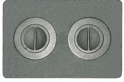 Плита двухконфорочная П2-2А (510*340)