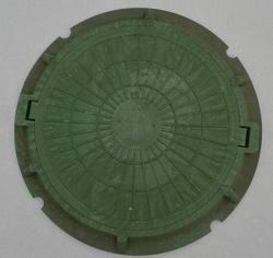 Люк полимерно-песчаный легкого типа для смотровых колодцев