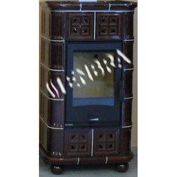 Изразцовая печь ENBRA Afrodita (Рамечек коричневый)