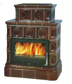 Изразцовая печь ABX Karelie с т/о (кафельный цоколь)