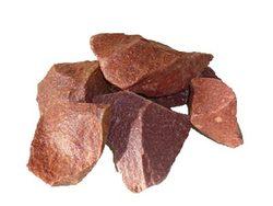 Камни для бани Кварцит малиновый колотый 20 кг