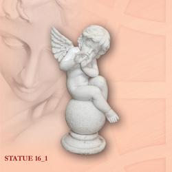 """Скульптура мраморная """"Ангелочек"""" 1"""