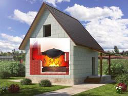 Отопительно-варочная печь с дымоходом под ключ в дом из пенобетона 60 м2. Наши Советы-Ответы